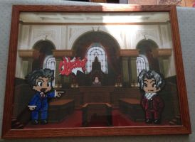 Ace Attorney Pixel Art made with Hama Beads by BenjaminHunter