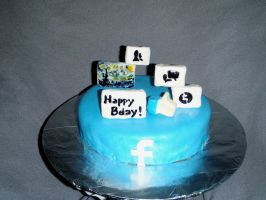 Facebook Birthday Cake by SarahMame