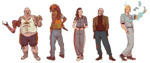 Neuromancer_Supporting characters by Deimos-Remus