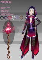 (closed) RPG Chara - Aletheia the mage by CherrysDesigns