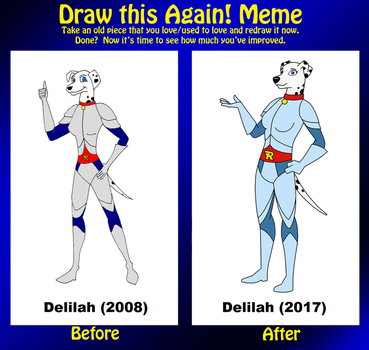 Draw This Again - Road Rovers OC Delilah by HewyToonmore