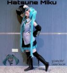 my hatsune miku cosplay in Sg Comifest 2014 by krymsinthe
