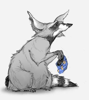 Coon wants more chips by Rhasdra