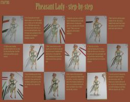 Pheasant Lady step-by-step by ITAFTRS