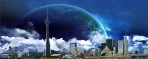 Toronto Skyline Surreal by Gingybreads