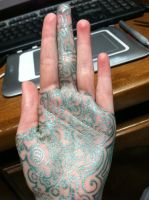 front of doodle hand by Wintaria