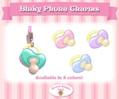 Binky Phone Charms by Mirelmture