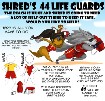 SHRED'S 44 LIFEGUARDS RUN by ShoNuff44
