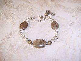 Red creek jasper silver coils bracelet by asukouenn