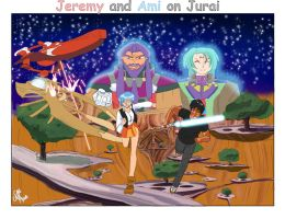 Jerren and Ami on Jurai Comission by chainedname