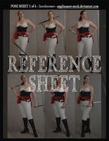 REFERENCE SHEET 1 of 4: Swordswoman by AngelaSasser-stock
