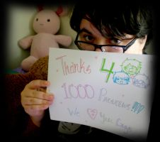 Thanks for 1000 Views, Lovelies!!! by GoodDokCosplay