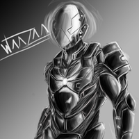 S.C.A.R. corps elite cyborg soldier. by waazaa