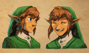 Faces of Link by Imson