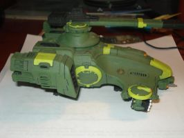 Warhammer 40k Hammerhead Side by moonpenguin