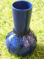 Black and Blue Vase by gnomeofmaille