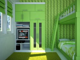 Green Bedroom by 4bedesign