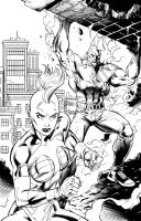 Savage Dragon She-Dragon Inks by JPRart