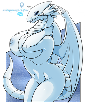 Blue eyes white dragon babe_complete by wsache007
