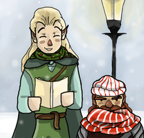 Caroling In Middle Earth by wolf-pirate55