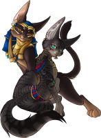Bastet + Anubis - myst-thrill by ExLibrisLibrary