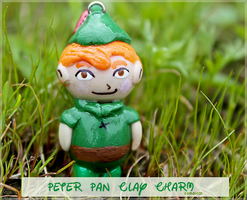 Peter Pan Clay Charm by Comsical