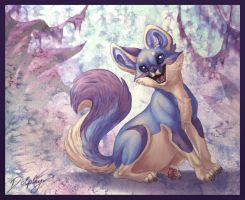 Blue Fox Thingy by DolphyDolphiana