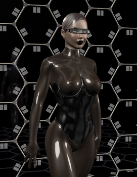 Mysterious Woman in Latex by balthazarbludd