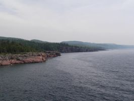 Coast of Lake Superior by UNoWhoOwnsArt