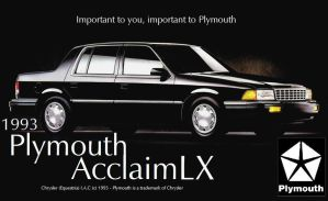 Fake Plymouth Acclaim Advert by LeoSandra85