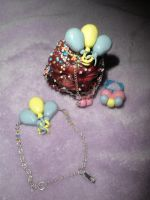 w.i.p. Pinkie pie jewellery by ilikeshiniesfakery
