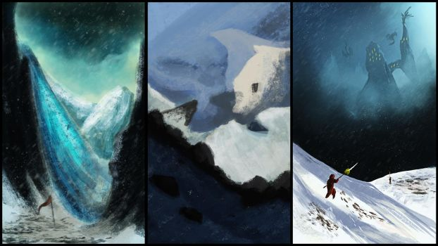 Environment practice thumbnails 02 by AbstractDawn