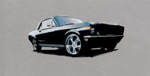 Mustang on Canson Paper by davidz1205