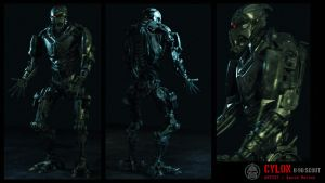 Cylon Scout 01 by cablereadygodhead