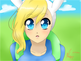 Speed Paint Fionna Adventure time by Vika01