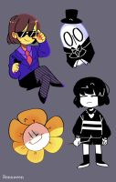 Undertale Doodles by Rensaven