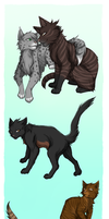 Warriors: Dustpelt and Ferncloud's family by Marshcold