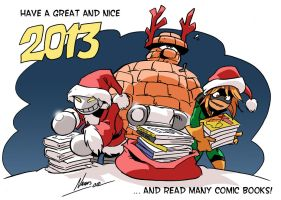 My greeting card for 2013 by NachoMon