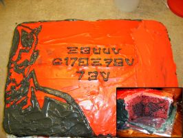 Darth Maul Birthday Cake by PhantomKat813