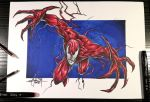 Carnage drawing by MiksArt