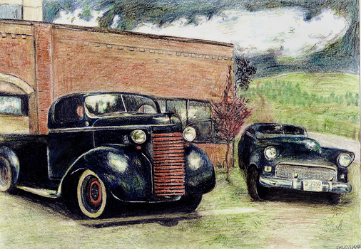 Old cars by Caroline-teenager