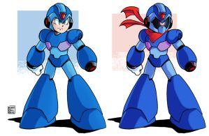 Mega Man X and Break Man X by MegaRyan104