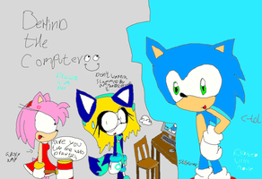 sonic drawed with mouse and the end with amy rose by Arty-Sylvi-14