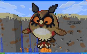 Hoothoot On Minecraft by Miccopicco