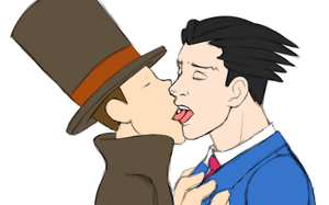 Layton vs. Phoenix by DekuOnFire