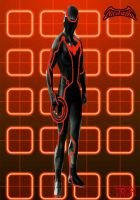Nightwing in Tron by IGMAN51