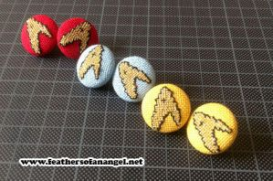 Star trek earrings by SongThread