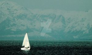 Sailing on the Great Salt Lake by houstonryan