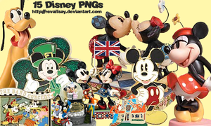 15 Disney PNGs by revallsay