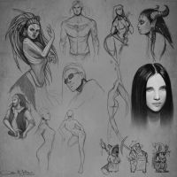 Sketches IV by Amanda-Kihlstrom